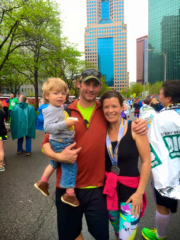 May 2 ·   These 2 important people were there to greet us yesterday as we crossed the finish line  😍   If you told me a year ago that I would wake up at 445am to go run 13+ miles in the rain on a Sunday I would have thought you were cray. The last 12 weeks have once again proven the power of my body--its ability to adapt, its strength, its resilience. I've learned a lot about myself--I've made a lot of mistakes, pushed myself past my limit, consumed way too many carbs, shed a few tears, and laughed a lot.  I want to thank  Keri for presenting me with this challenge--and send love to everyone who has supported me along the way--your encouragement was not overlooked and motivated me to push forward, even on the days I didn't want to.  You know, you're stronger than you think you are.