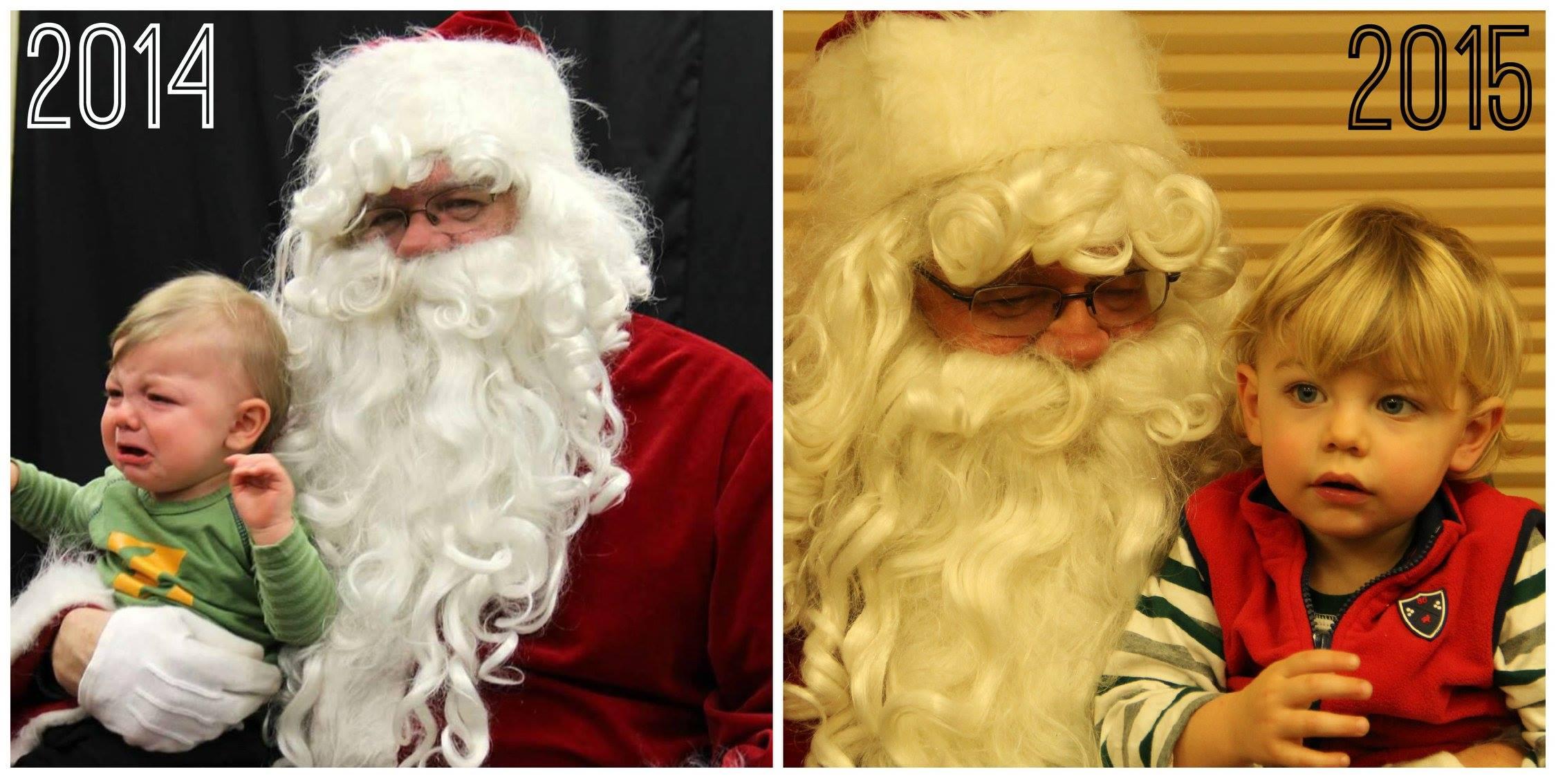 December 15 ·   Same Santa, better attitude.