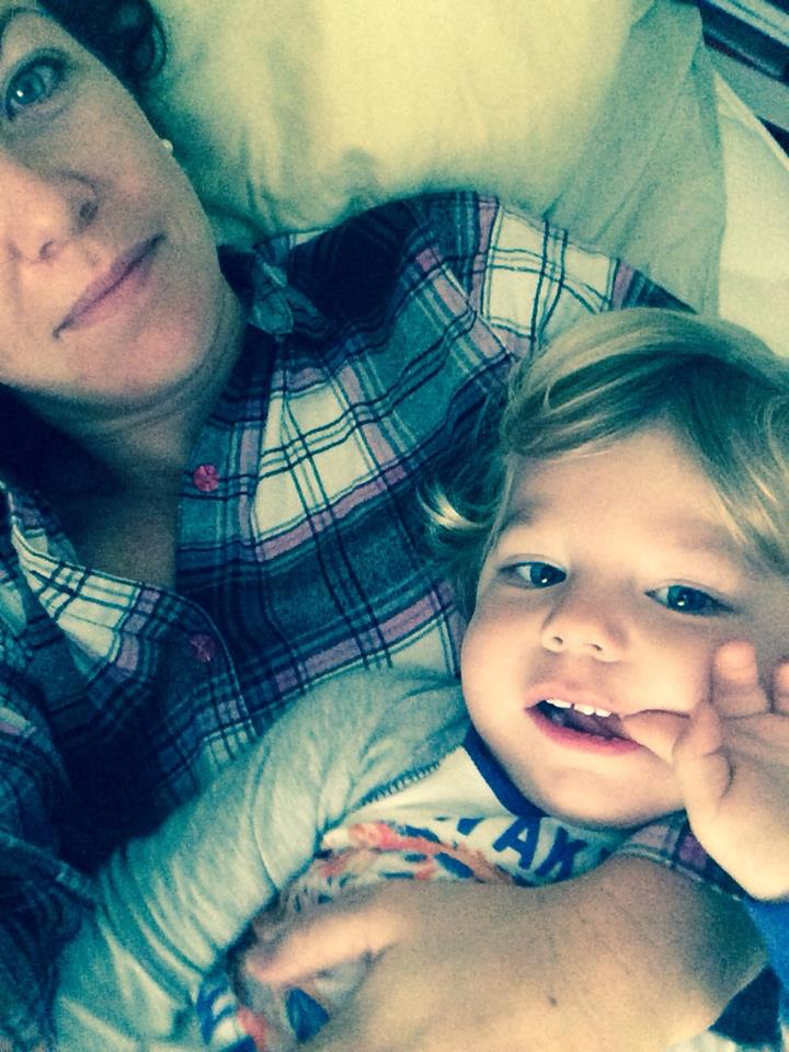 October 12 ·   Opted for morning bedtime snuggles with this sweet angel on my day off.