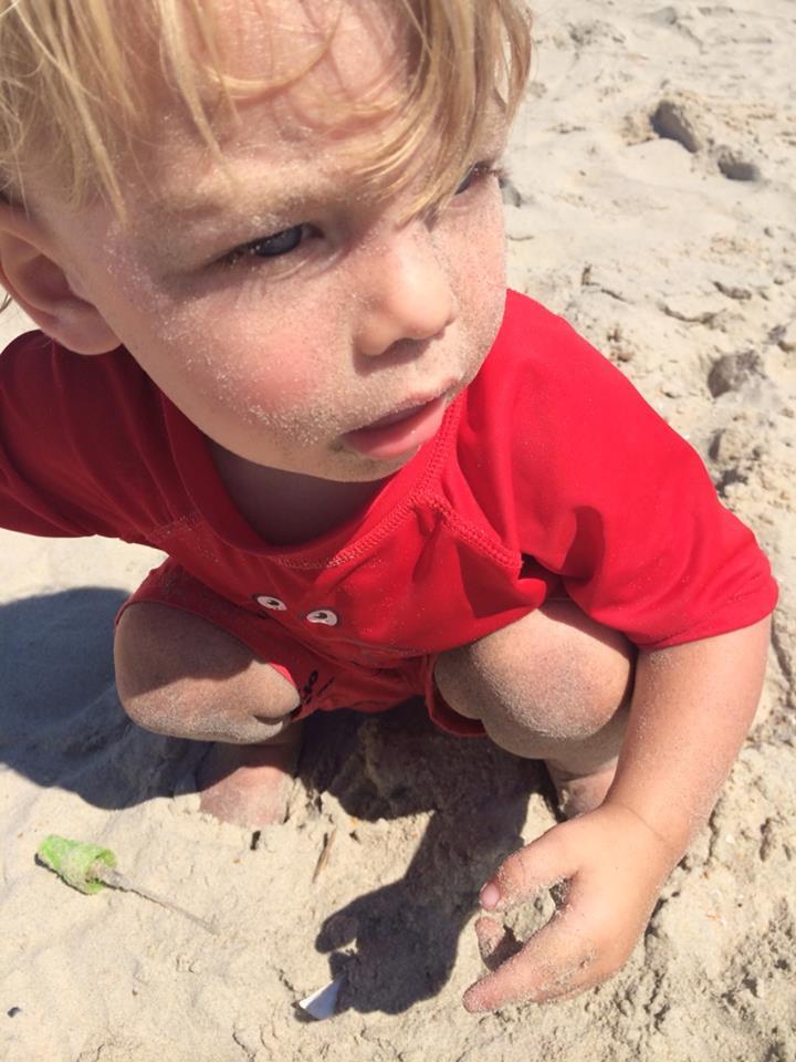 August 13 ·   Tiny little beach bum.