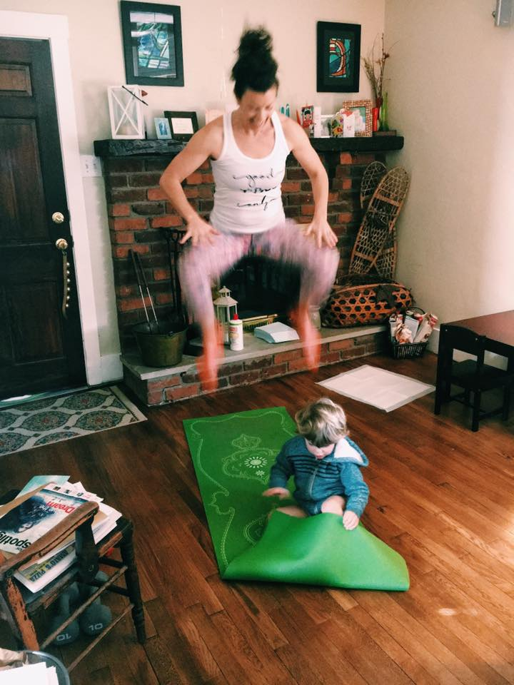 Feburary 25.  🙌🏻Every kid deserves a strong mama 🙌🏻  It's not about having a super sexy mom bod, or having 6 pack abs. It's about feeling strong, inside and out, for all of the challenges that motherhood presents.  I couldn't do a tuck jump when I started. I just started, did what I could, and committed to showing up every day. And ya know, I learned I was a lot stronger than I thought I was.  We're putting the final touches on our next support and accountability group that begins Monday, and have one space left. It's yours if you're ready!