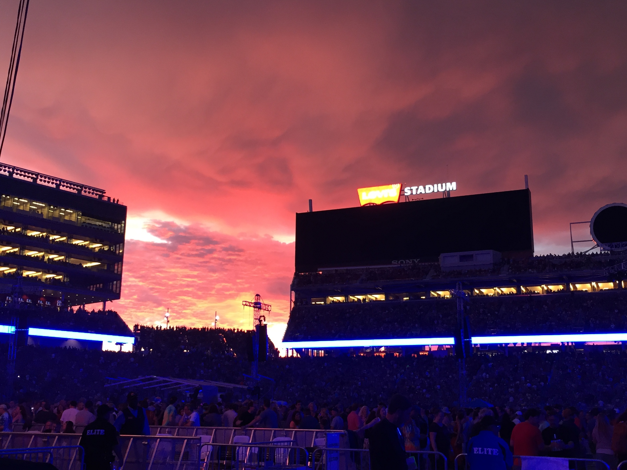 One of the beautiful sunsets at Levi's.