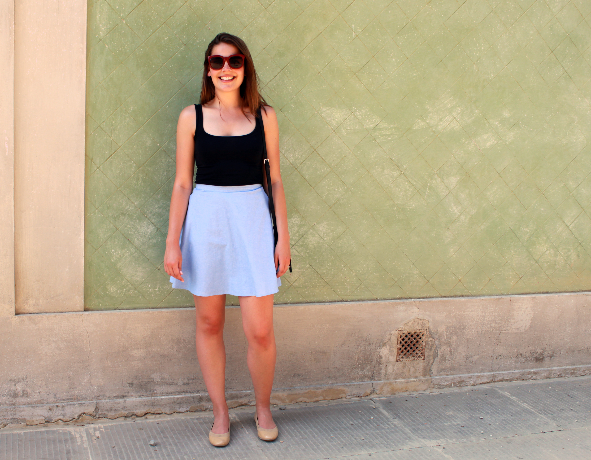 Francesca's chambray skirt (similar   here   and   here  ).