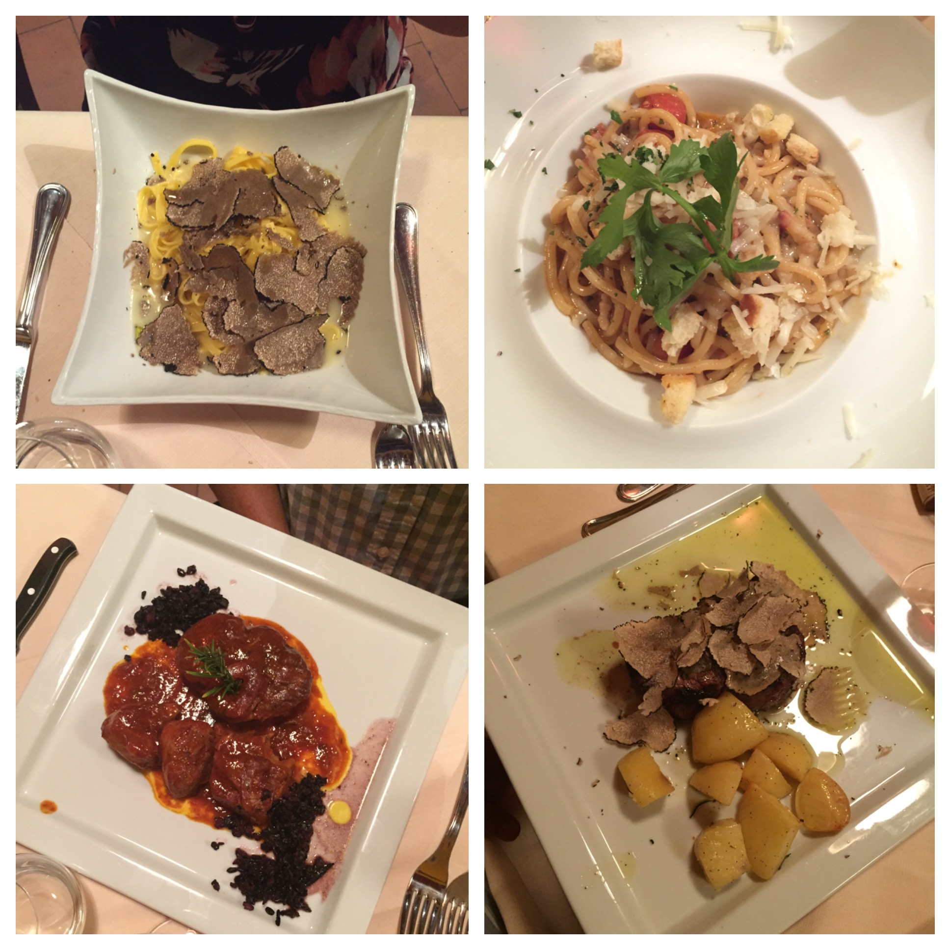 All of our lovely meals... YUM