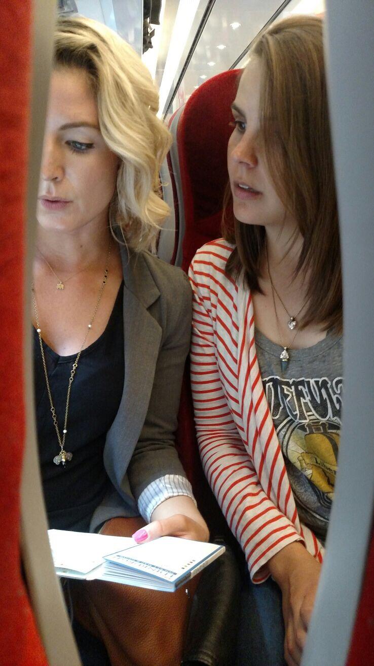 Train travel up to Edinburgh, Scotland to meet some more friends! August, 2017.