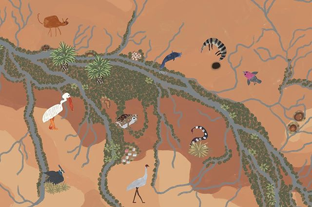 Some more lovely animals painted by the kids at Roebourne for our project with @juluwarlu installing August 🎨