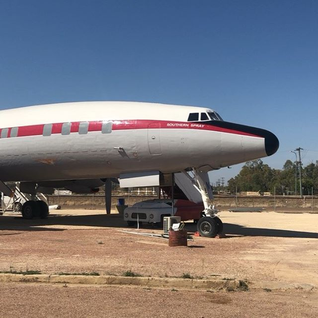 New week, new exhibition (inside an old Super Constellation! ✈️) @qantas_founders_museum More photos to come 💺💺💺