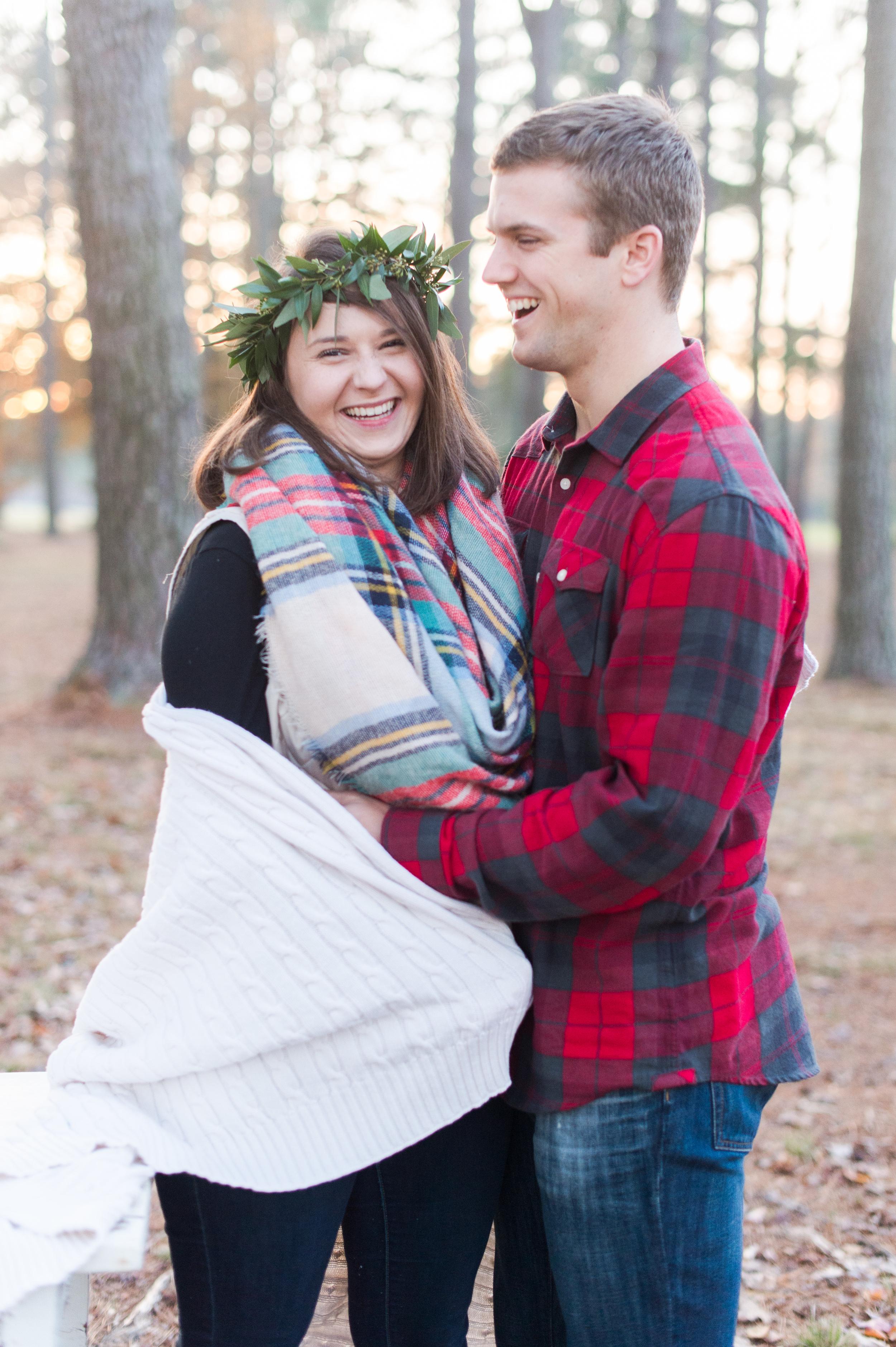 Elizabeth Henson Photography with Courtney Inghram Events Newlywed Christmas Photos