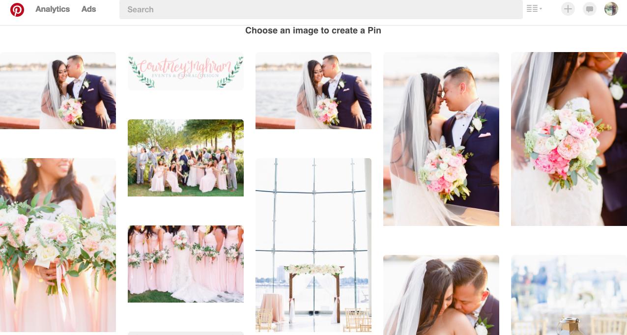 Courtney Inghram Events and Floral Design Virginia Wedding Florist Pinterest Advertising