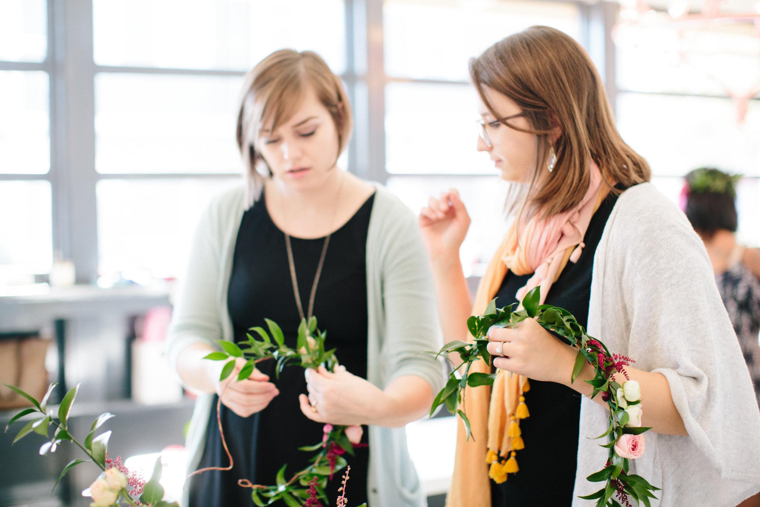 CIE Blooms and Brunch Workshop in Norfolk Virginia with Courtney Inghram Events