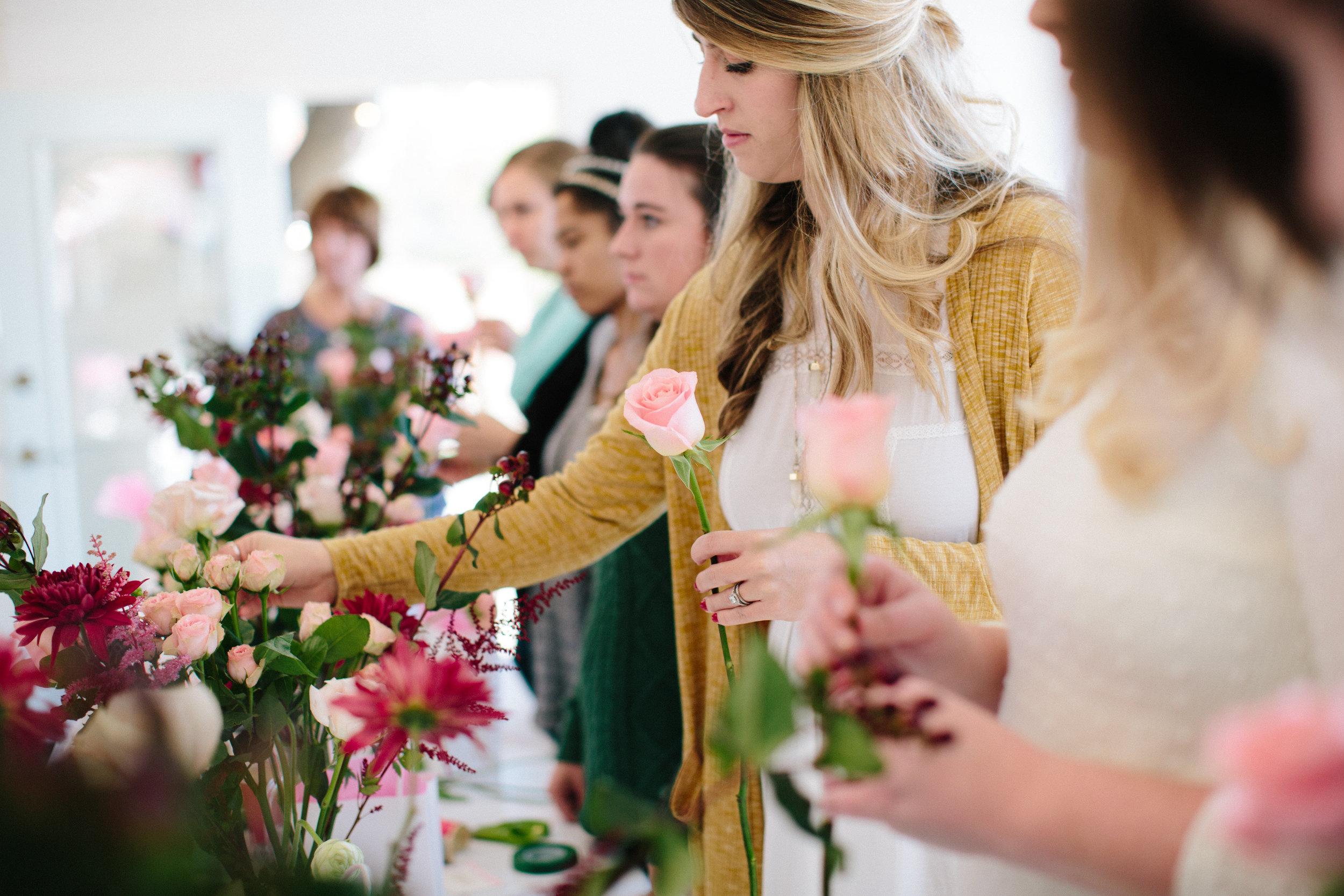 CIE blooms and brunch workshop in Norfolk, Virginia