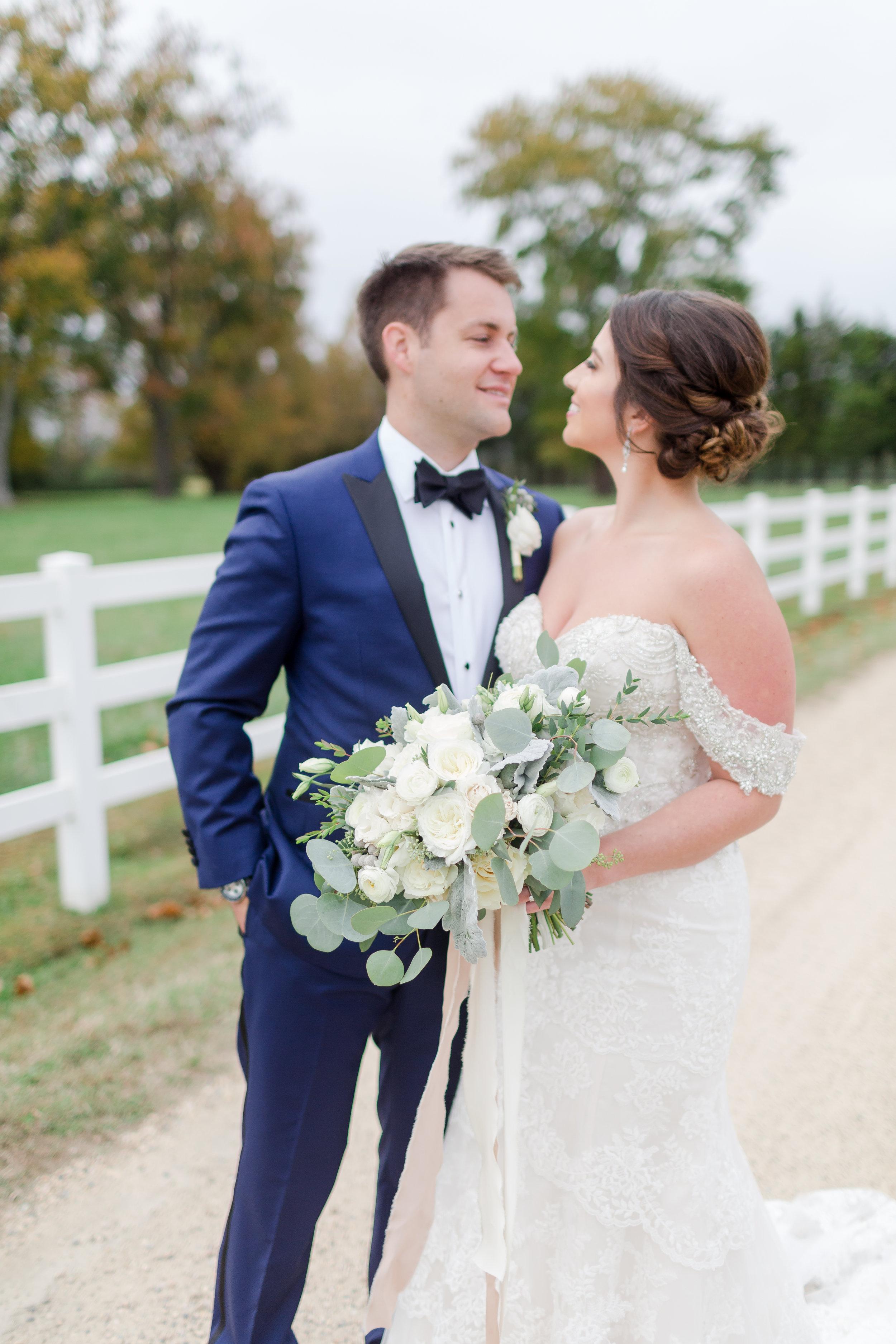 Courtney Inghram Hampton Roads Virginia Inn at Warner Hall Wedding Florist