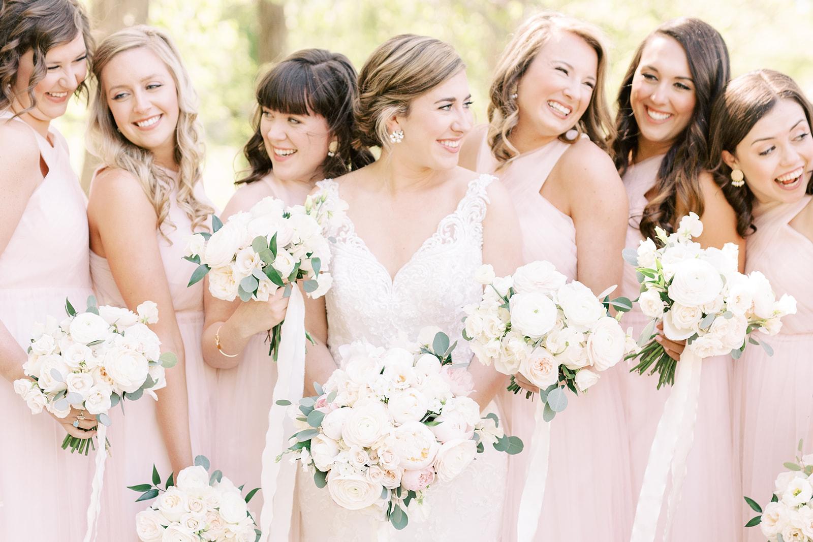 Courtney Inghram Richmond Virginia Wedding Florist Foundry Golf Club Blush and Gold Spring Wedding
