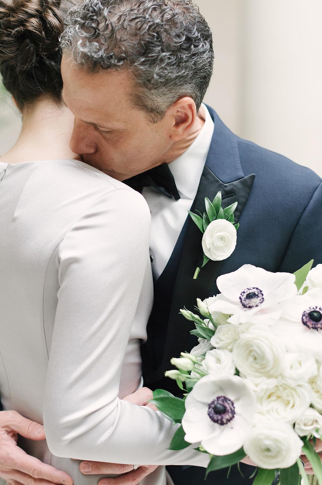 Courtney Inghram Washington DC National Gallery of Art Modern Wedding Florist Winter Wedding