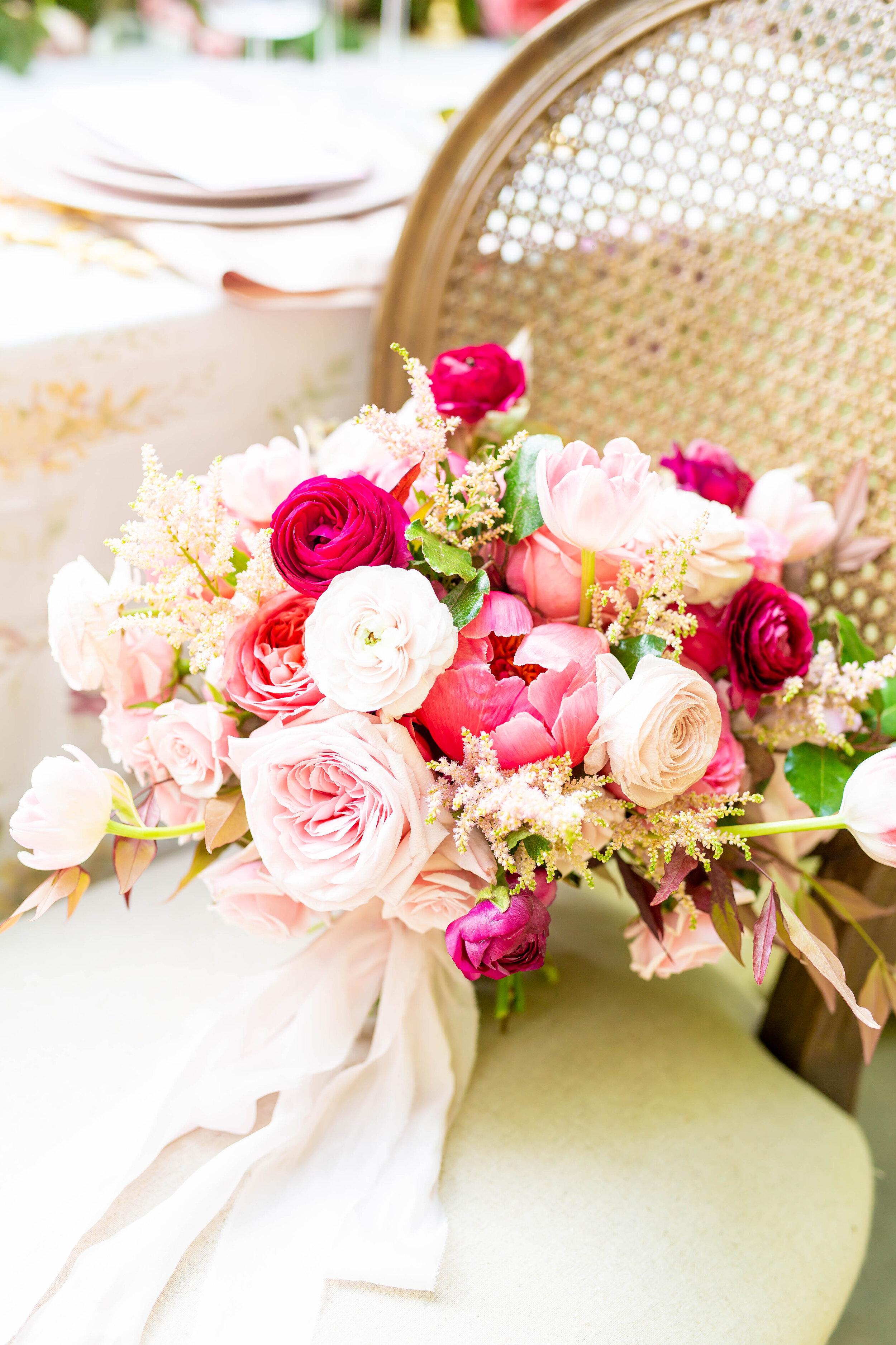 Courtney Inghram Stevenson's Ridge Fredericksburg Virginia Pink Ombre Summer Wedding