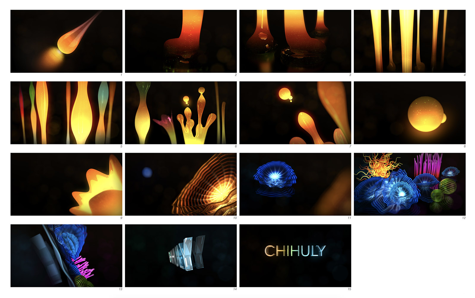 Chihuly style frames