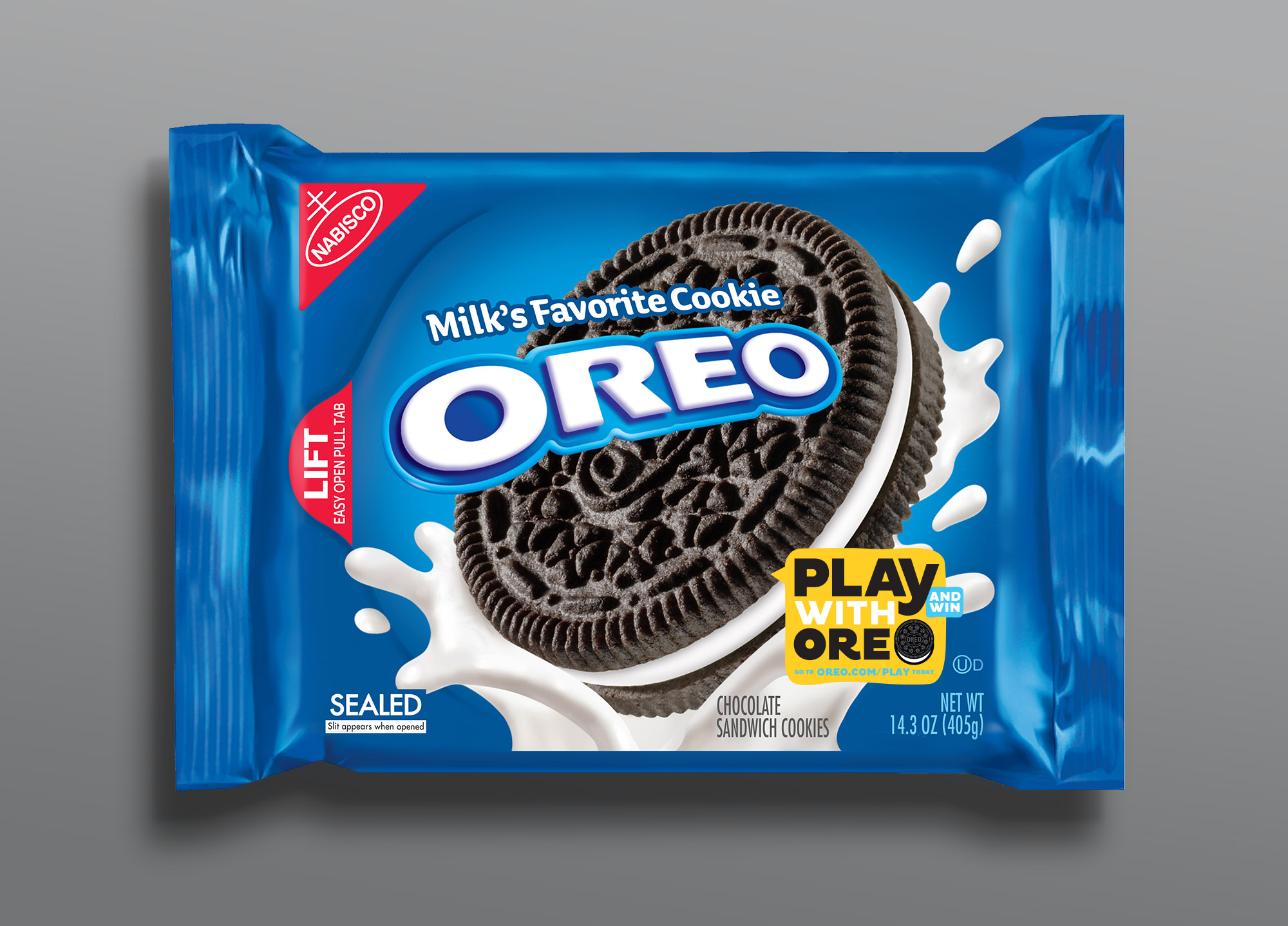 Play With Oreo - on pack sticker