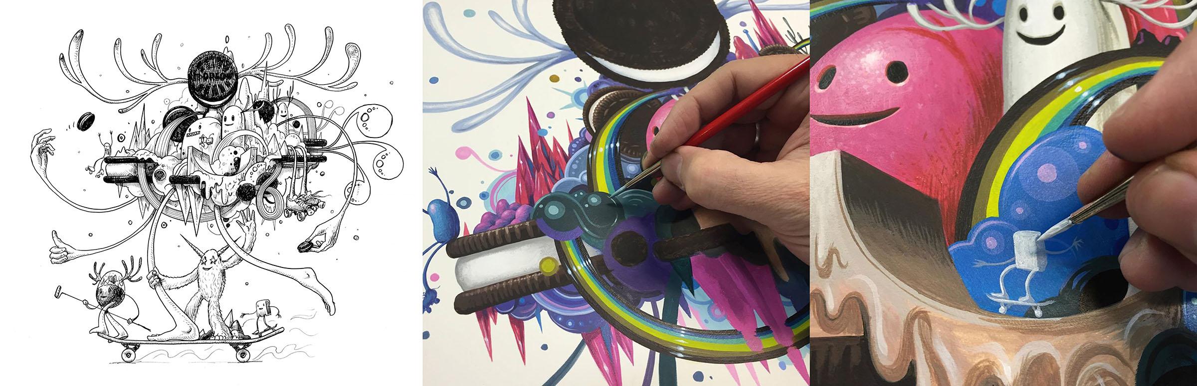 Jeff Soto artist process images