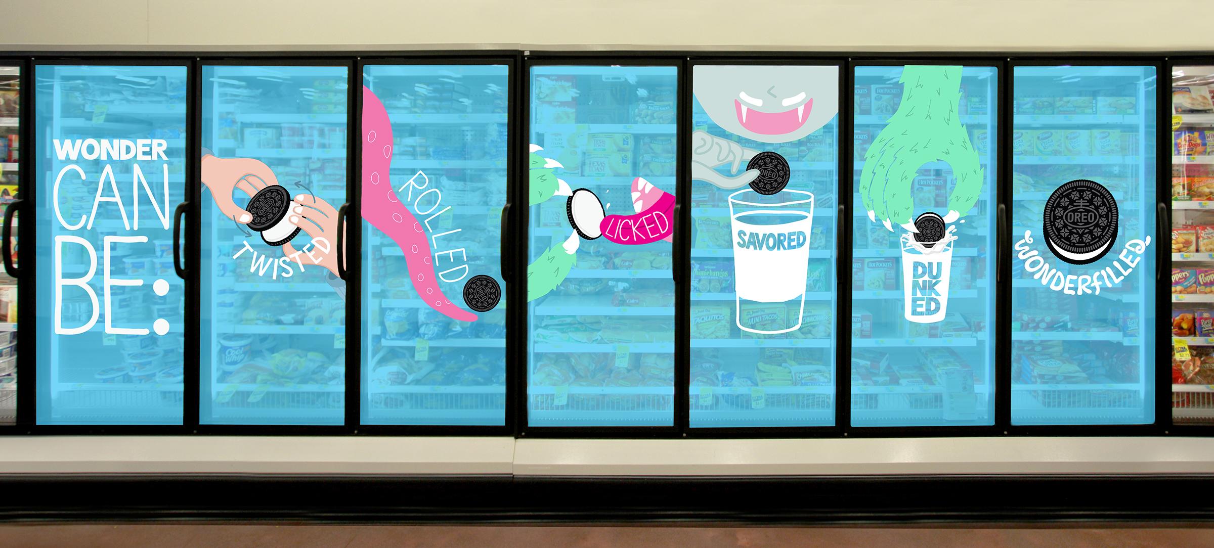 Oreo Freezer Door Stickers