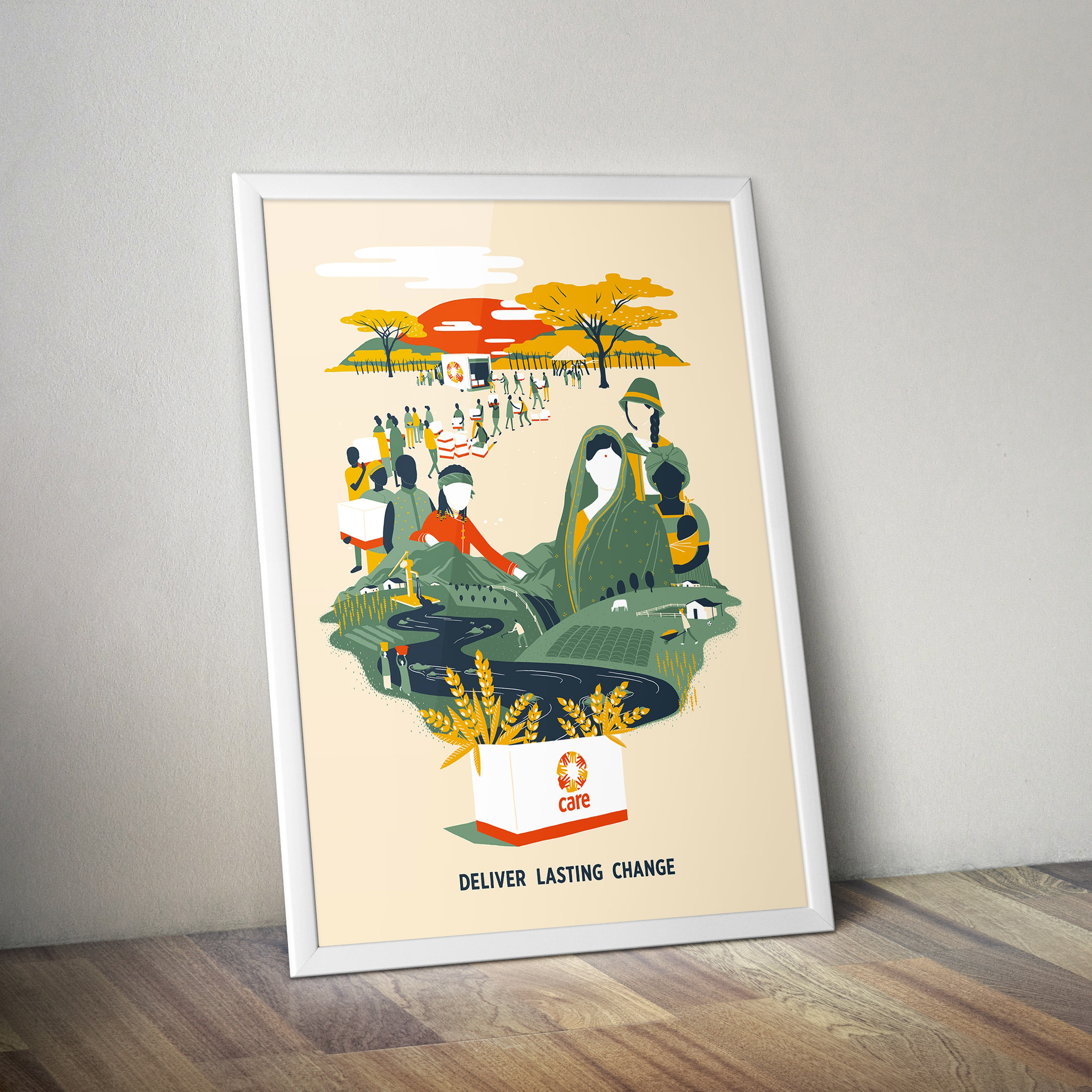 CARE commemorative poster