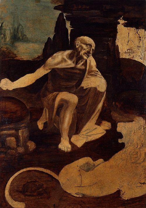 Leonardo DaVinci, St. Jerome Praying in the Wilderness, 1483-1519