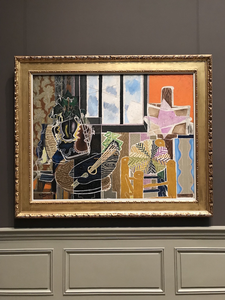 Georges Braque, The Studio (Vase Before A Window), 1939, oil mixed with sand on canvas