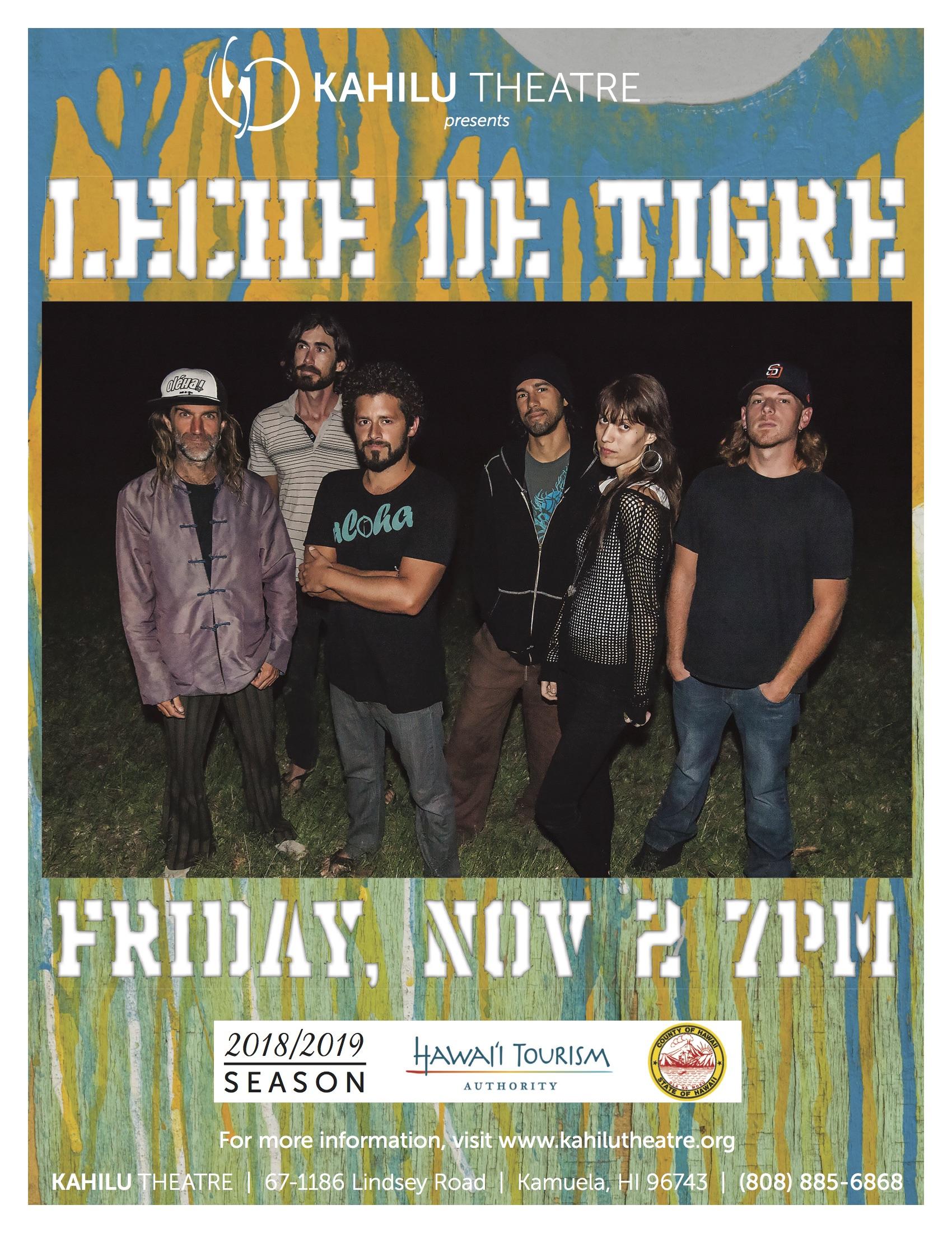 Nov 2nd party w/Leche - Kahilu Theatre Presents