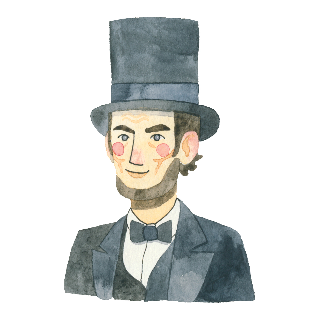 Abraham Lincoln for his birthday, 2017