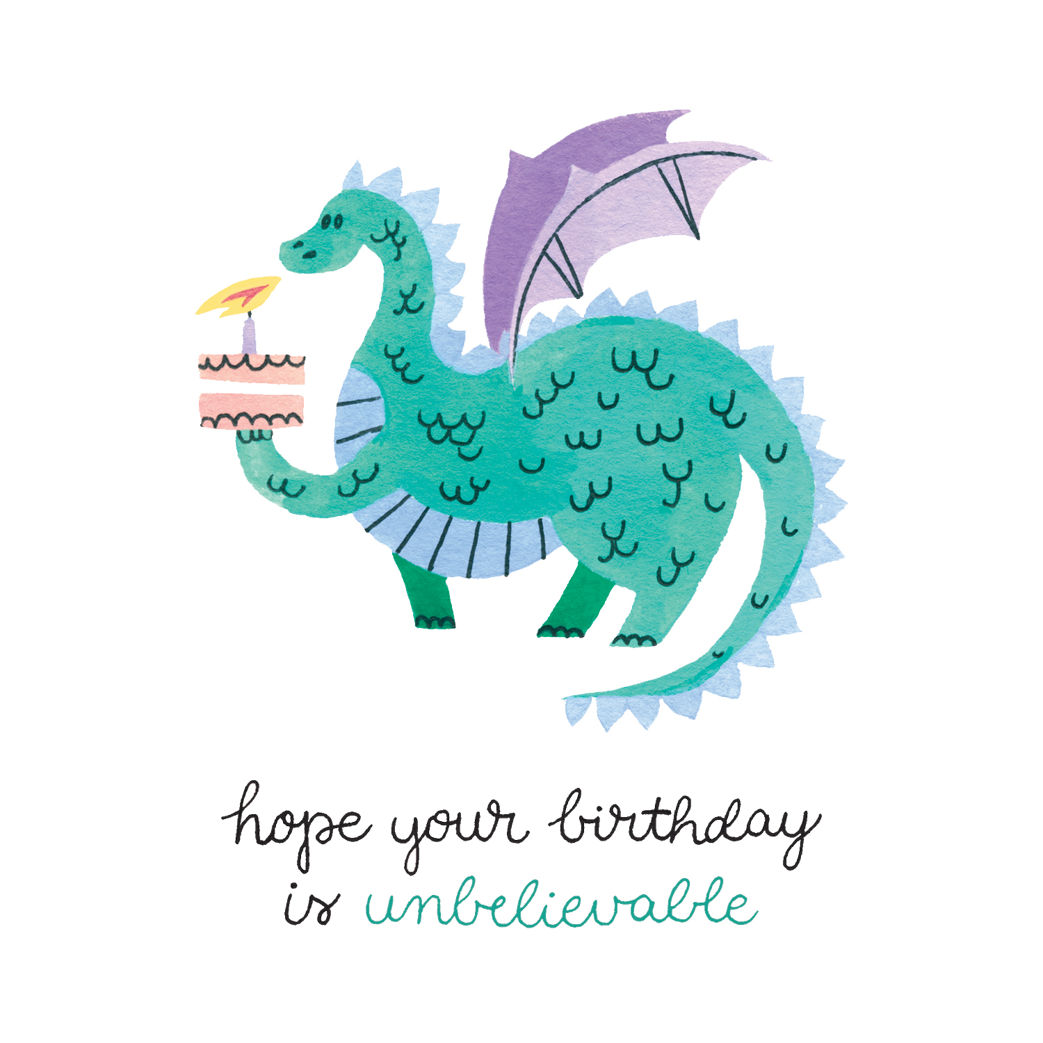 Dragon Birthday Card