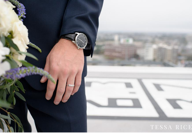 ACCESSORIES - All metal accessories should match - wrist, watch, cufflinks, tie clip. Be sure to keep accessories simple with matching finishes and don't wear everyday jewelry or sporting gear.