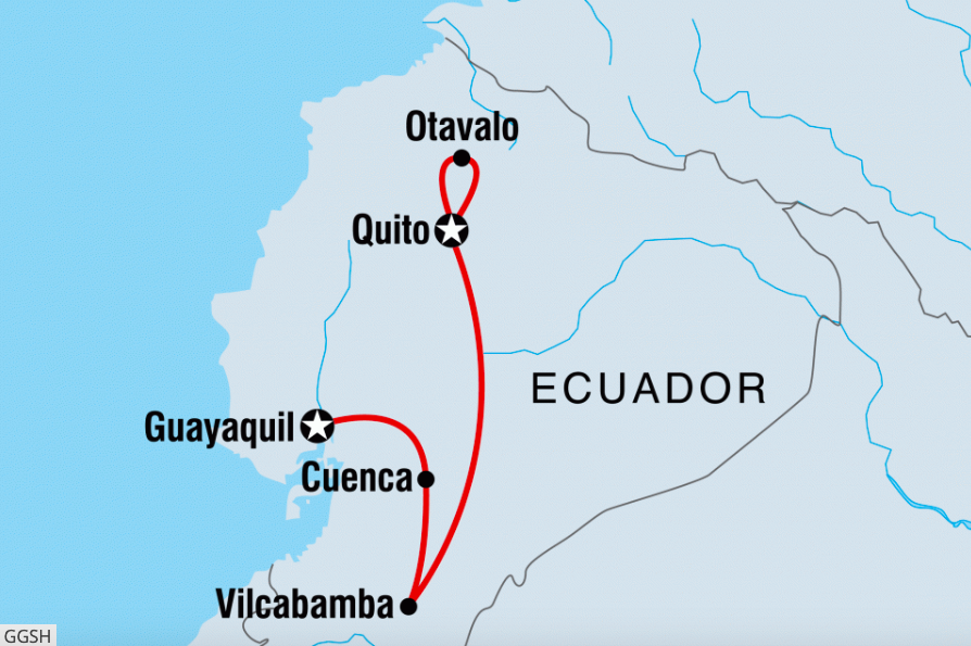 southern ecuador highlights map intrepid travel.png