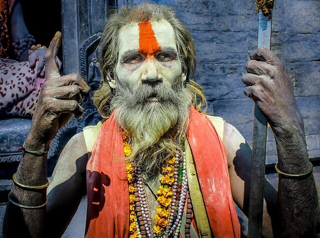 Hindu Wiseman in Kathmandu, Nepal
