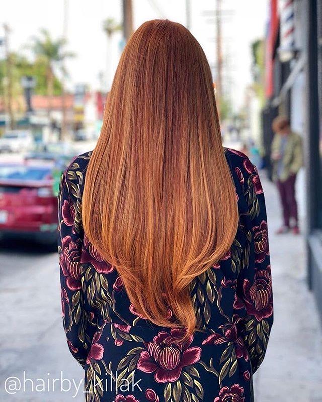 Color, Cut & Style by Kerryn🔥 @hairby_killak #ziggyshairla - - - #hair #color #love #balayage #fire #hot #balayageombre #balayagehighlights #red #redhair #ginger #redhead #beauty #yas #westla #culvercity #longhairstyles #usc #ucla #marinadelrey #venice #losangeles #tbt #wcw #hollywood #wella #olaplex