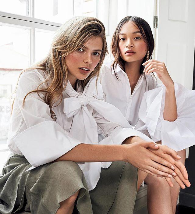 Girls ⚡️💥🔥💫 @alyucma & @taliiaeva for @lucysmagazine 👌🏾#newwork . #styleby @mutabazi_k #shotby @carmenrosephotographer #hair @bylaurenm_ #mua @maetaylor_makeupartist