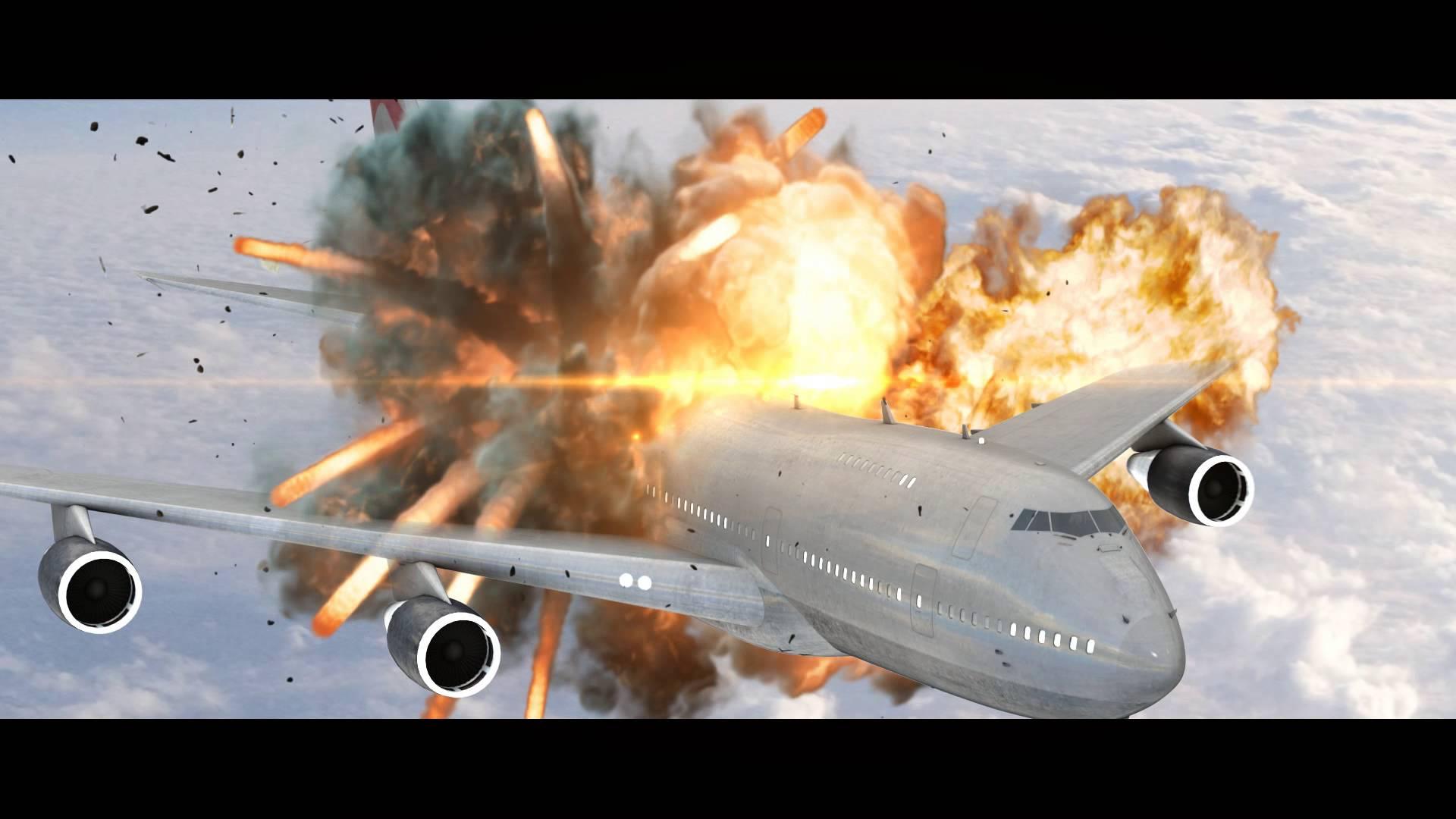 plane exploding