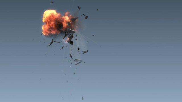 plane explodes midflight
