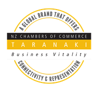 Taranaki Property Valuers are a member of Taranaki Chamber of Commerce.
