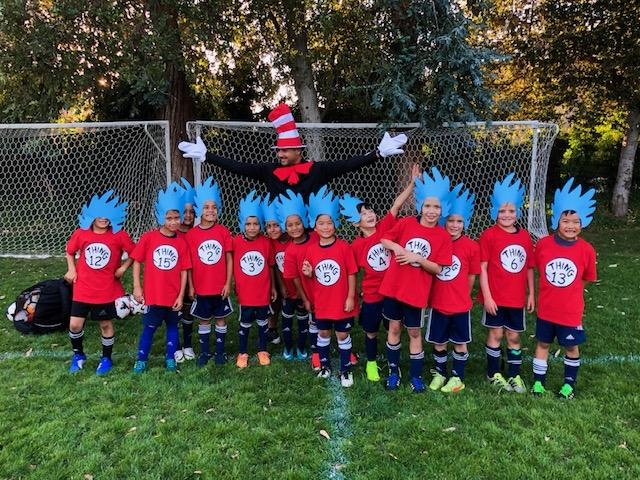 WINNER Best Costume U9 & Younger: 11B Corinthians Blue - The Carlos in the Hat with his Things