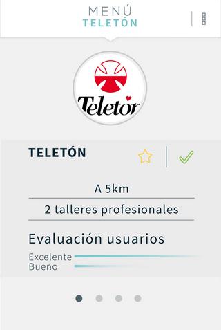 """Teletón, 5km away, 2 professional courses"""