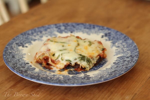 homemade eggplant parmesan | thebrownshed.com