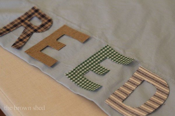 personalized pillow cases | www.thebrownshed.com
