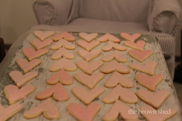 valentine sugar cookies | thebrownshed.com