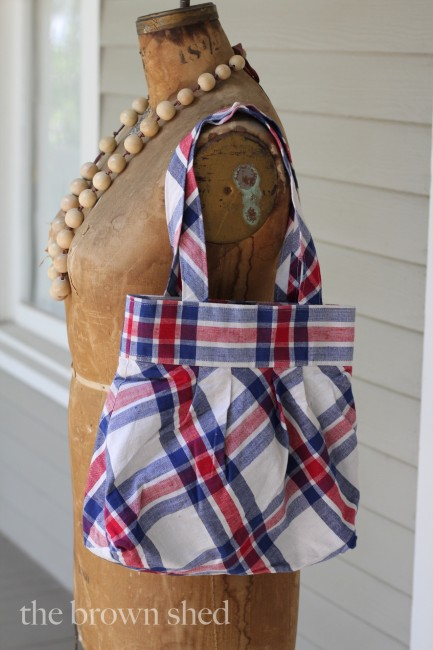french fabric bag | thebrownshed.com