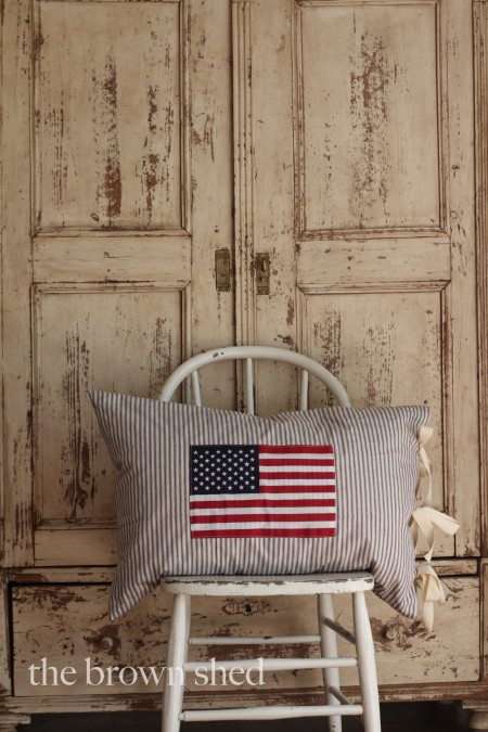 flag pillow | thebrownshed.com