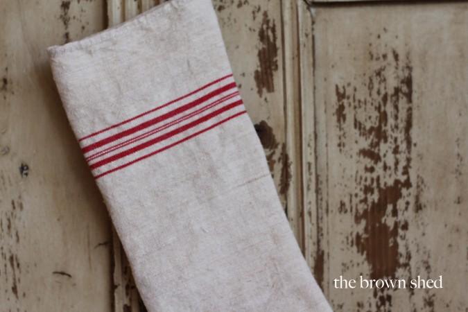grain sack stocking | thebrownshed.com