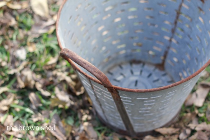 european olive bucket | thebrownshed.com