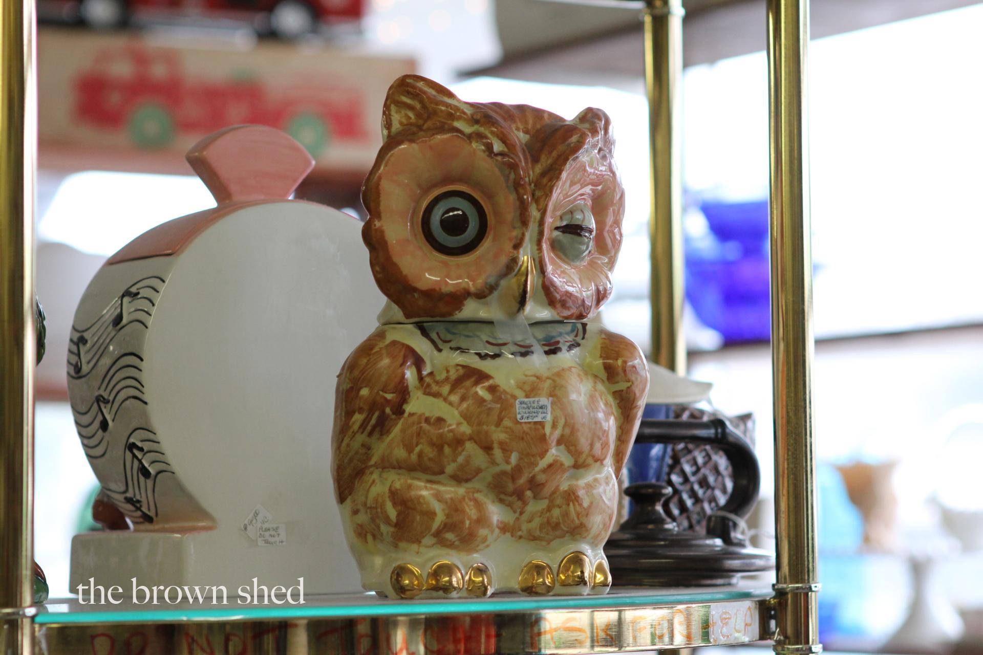 vintage owl cookie jar | thebrownshed.com