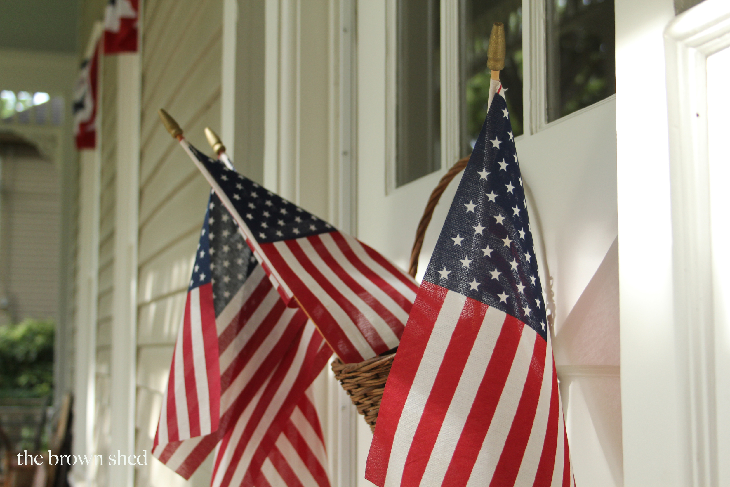 American flags |  thebrownshed.com