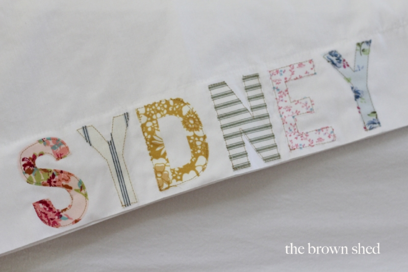 personalized pillow case | thebrownshed.com
