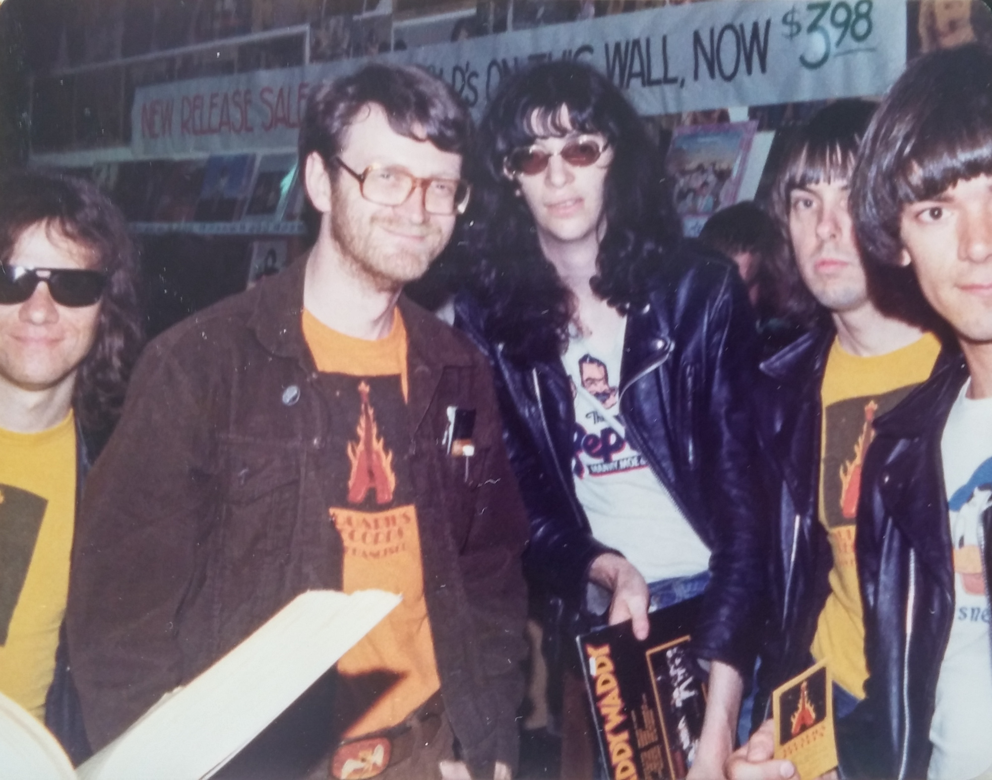 One of the times that The Ramones visited aQ.